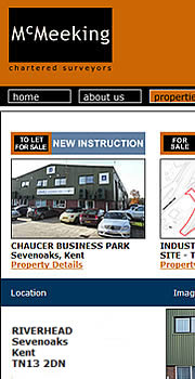 Website for commercial property agents in Kent